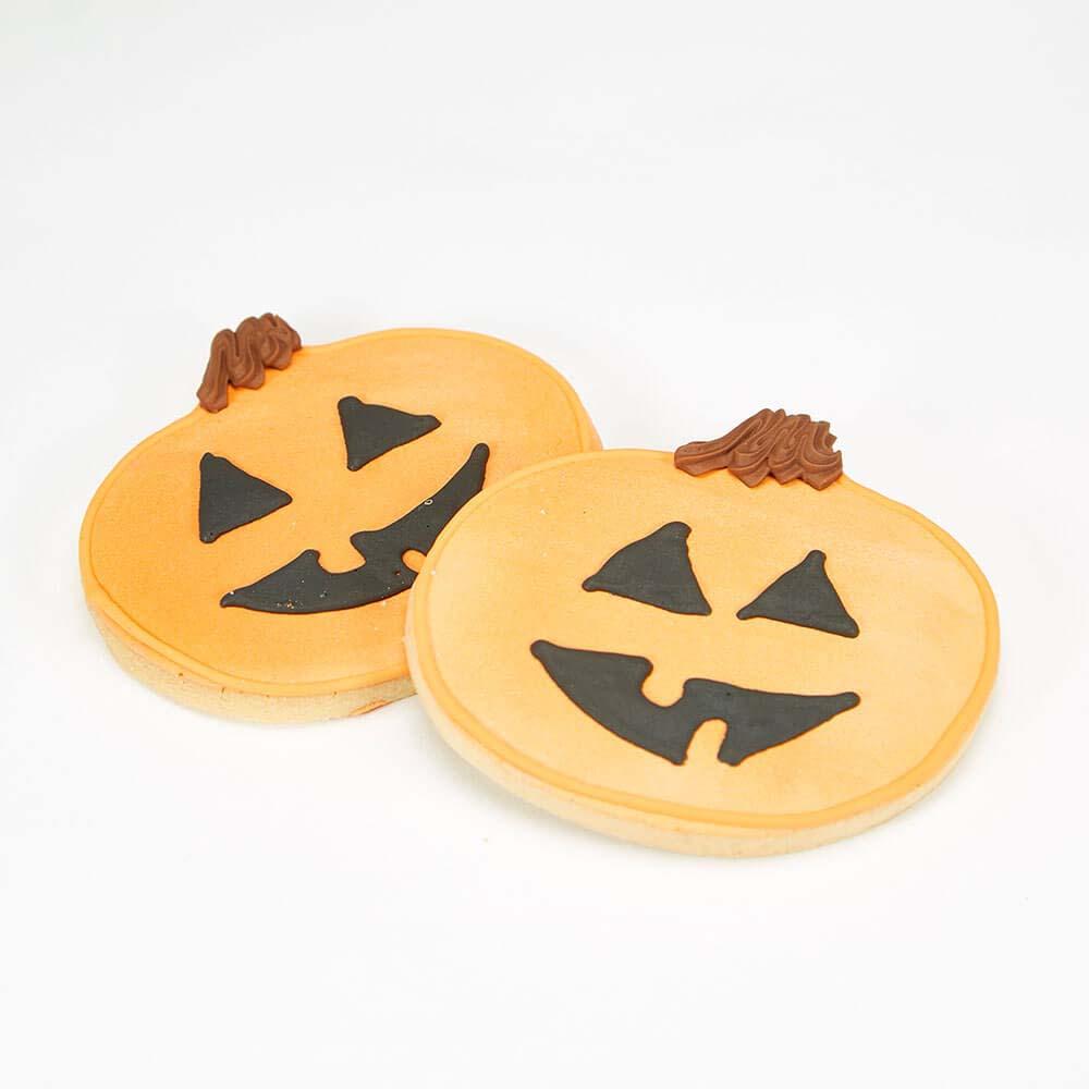 Jack-o-lantern sugar cookie