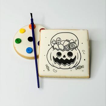 Jack-o-Lantern DIY Coloring Cookie Set
