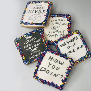 """""""Friends"""" Quote Sugar Cookies"""