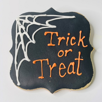 Trick or Treat Decorated Sugar Cookie