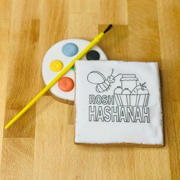 DIY Rosh Hashanah Paint Cookie