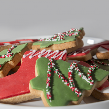 Decorated Sugar cookie tray