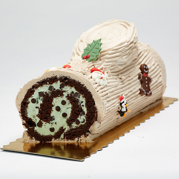 Traditional buche- Mint Chocolate Chip