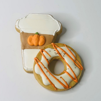Coffee and Donut Sugar Cookie Set