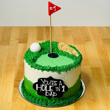 Father's Day Hole-in-One Cake